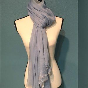 NWT Elegant Light Blue Silk & Modal Scarf/Wrap